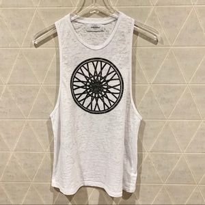 Soulcycle find your soul wheel tank white L